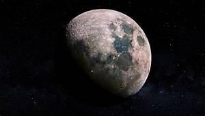 Lunar, Craters, Moon, 4k, Wallpapers