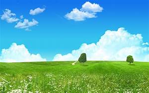 lovely, green, landscape, wallpapers