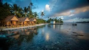 wallpaper, bungalows, , 4k, , hd, wallpaper, , reef, , french, polynesia, , water, , clouds, , palms, , world, u0026, 39, s