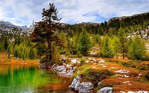 Boulders, Lake, Reflection, River