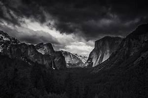 Landscape, Nature, Monochrome, Mountain, Forest, Yosemite, Valley, Yosemite, National, Park, El