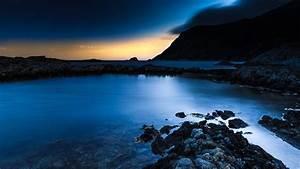 wallpaper, norway, , 4k, , hd, wallpaper, , blue, sunset, , sea, , ocean, , water, , sky, , clouds, , rocks, , sunrise