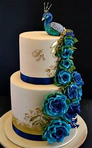 Peacock, As, An, Inspiration, For, Cake, Decoration