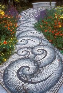 Diy, Spiral, Rock, Pebble, Mosaic, Path, I, Wish, To, Have