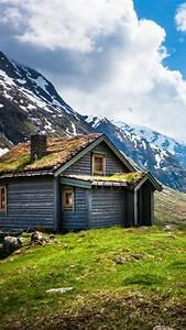 Wallpaper, Norway, 4k, Hd, Wallpaper, Geiranger, Stryn, Mountain, Clouds, House, Sky, Snow, Green