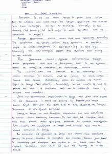 essay on corruption in simple words