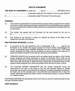 deed of assignment of debt template