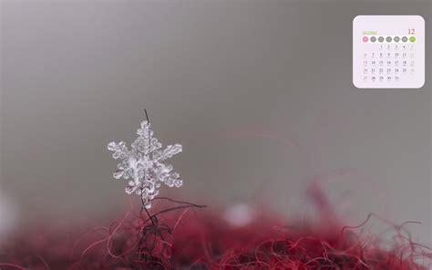 2020年12月那瑰丽的六角雪花日历,高清图片,电脑桌面-壁纸族