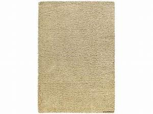 Tapis 133X180 cm 100% polypropylène SHAGGY BEIGE Vente de Tapis Conforama