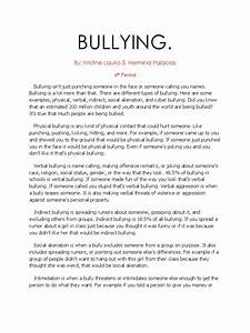 English Argument Essay Topics Argumentative Essay About Bullying With Introduction Body And Conclusion  Example Public Health Essay also Business Law Essay Questions Argumentative Essay On Bullying Ppt On Essay Writing Argumentative  Synthesis Essay Ideas